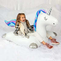 Big Winter Unicorn Snow Tube