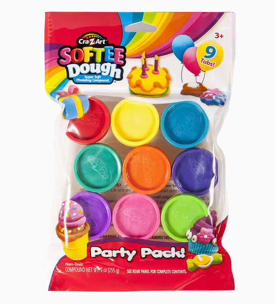 Softee Dough 9 Cans Party Pack