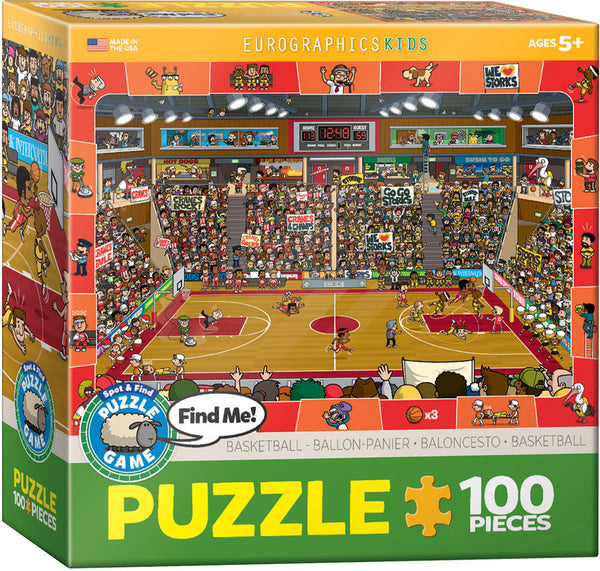 Spot & Find Basketball Puzzle Game