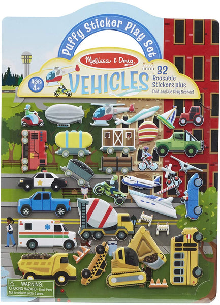 Reusable Puffy Stickers Play Set - Vehicles