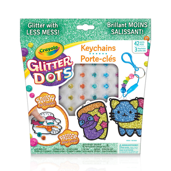Glitter Dots Sparkle Friends Keychains
