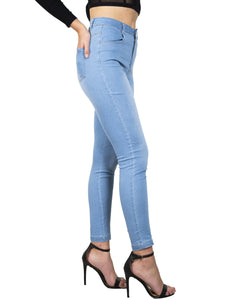 36.29 Come Here Washed Blue Skinny Jeans Diva Ultd