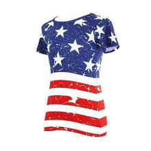 Load image into Gallery viewer, 16.96 American Flag Women's Shirt Diva Ultd