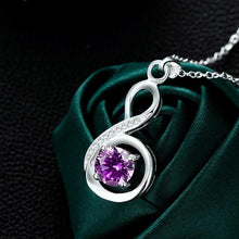Load image into Gallery viewer, 16.99 Bergoius Necklace in 18K White Gold Plated made with Swarovski Diva Ultd