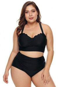 Hit The Waves High Waist Plus Size Bikini