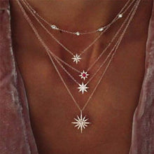 Load image into Gallery viewer, 17.99 Celestial Stars in the Sky Swarovski Elements Chic Necklace Diva Ultd