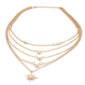 17.99 Celestial Stars in the Sky Swarovski Elements Chic Necklace Diva Ultd