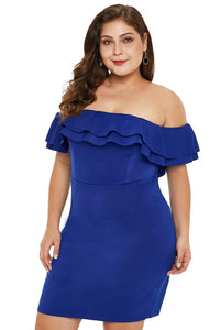 29.99 Cold Shoulder Ruffled  Party Dress Diva Ultd