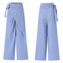 Load image into Gallery viewer, 21.99 Cross Over Linen Cotton Trousers Diva Ultd