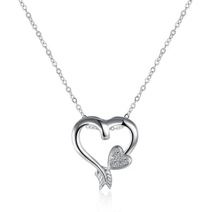 15.99 Zoey Necklace in 18K White Gold Plated Diva Ultd