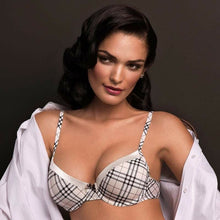 Load image into Gallery viewer, 25.99 Tuxedo Molded Demi Cup Bra Diva Ultd