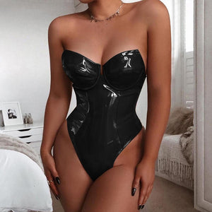 Spanking Hot PU Bodysuit