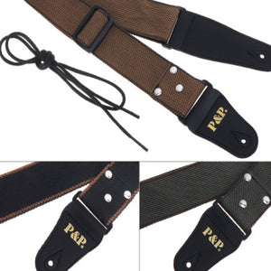 Adjustable Pure Cotton Guitar Strap - Free Shipping
