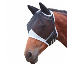 Load image into Gallery viewer, Detacheable Horse Mesh Fly Mask - Nasal Covers Available Too - Free Shipping
