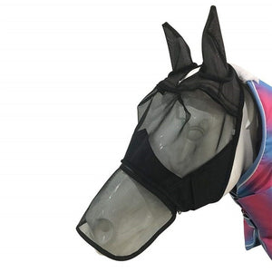 Detacheable Horse Mesh Fly Mask - Nasal Covers Available Too - Free Shipping