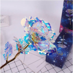Galaxy Rose with Love Base/Stand and Gift Box - Free Shipping
