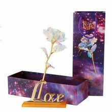 Load image into Gallery viewer, Galaxy Rose with Love Base/Stand and Gift Box - Free Shipping