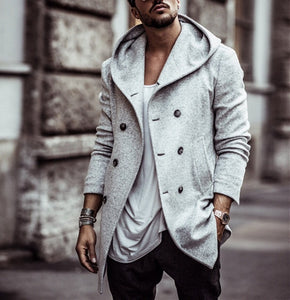 Mens Over Coat Jacket - Free Shipping