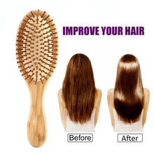 Load image into Gallery viewer, High Quality Bamboo Hair Brush - Free Shipping