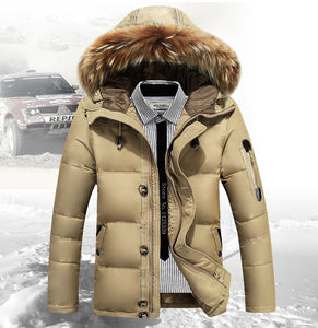 Mens Warm Winter Jacket Parka - Free Shipping
