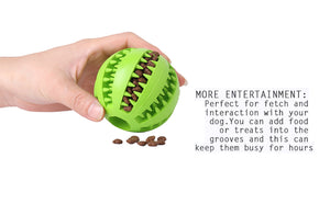 Dog Food Dispensing Rubber Ball - Free Shipping