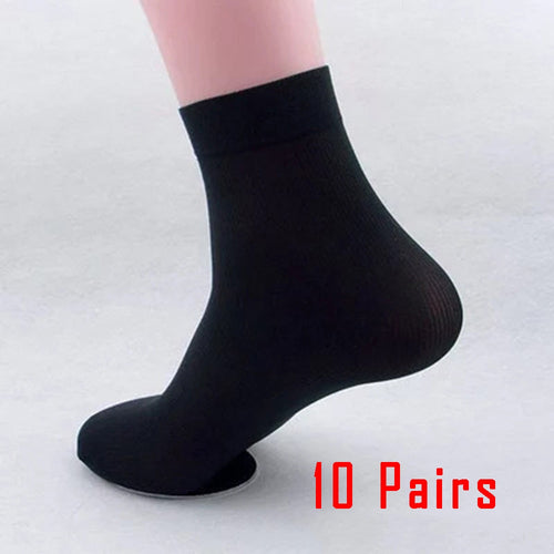 10 Pairs black mens socks - Different Colors - Free Shipping