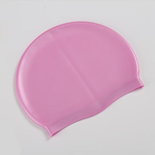 Soft Silicone Waterproof Swimming Caps - Free Shipping
