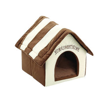 Load image into Gallery viewer, Dog House Dog Bed - For small dogs - Free Shipping