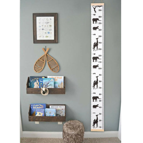 Decorative wood and canvas growth chart - Free Shipping