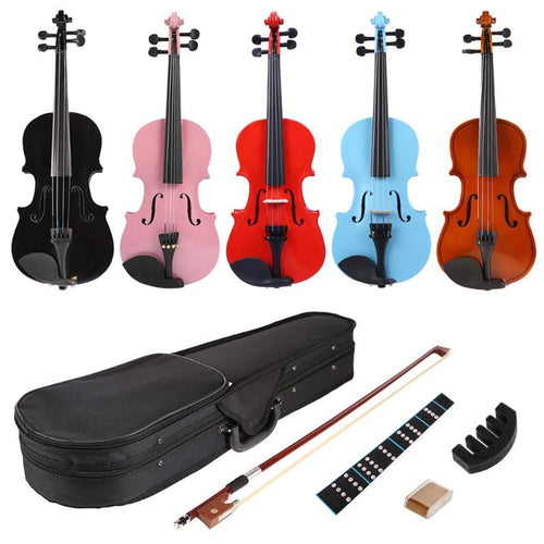 1/8 Size Violin For Children - Various Colours - Free Shipping