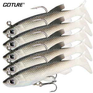 5 Soft Fishing Lures Wobbler Swimbait - Free Shipping