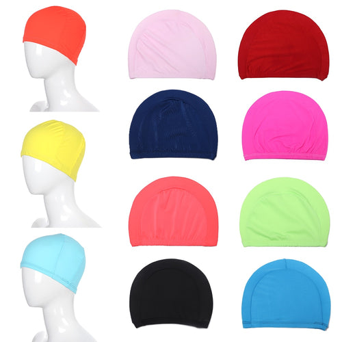 Durable High Elastic Swim Caps - Multiple Colors and Designs - Free Shipping