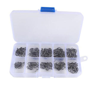 Pack of 200 or 500 J Hooks numbers 3-12 - Free Shipping