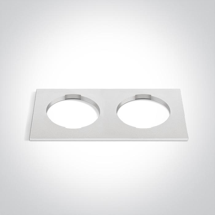 WHITE DECORATIVE BASE SQUARE DOUBLE FOR 10105H