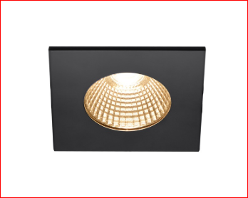 SLV SLV 1002101 PATTA-I, LED outdoor recessed ceiling light, angular DL IP65 black 1800-3000K 4024163222884 1002101