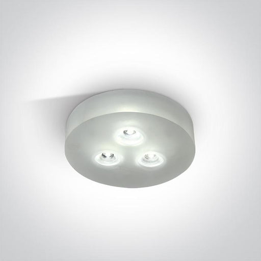 ONE Light Glass Recessed 3x1w Dl 350ma 5291889022763 10103GL/D