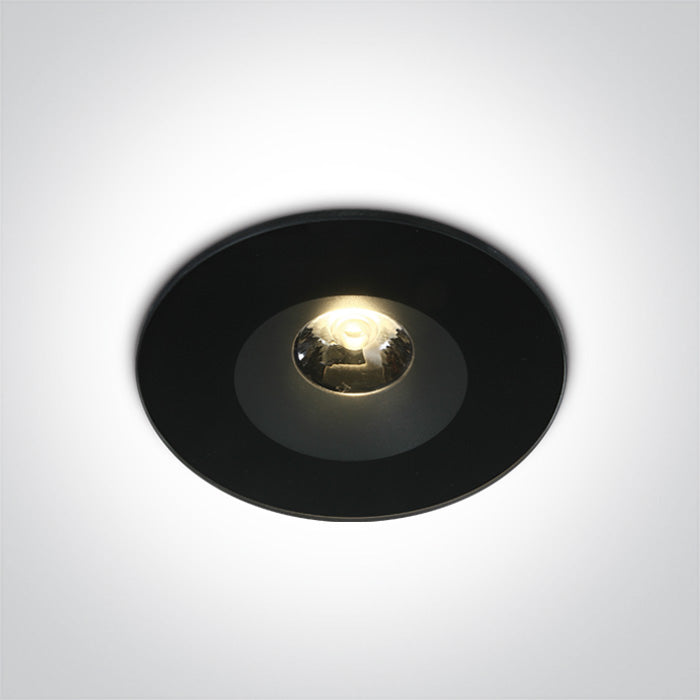 BLACK LED 6W WW 25deg IP65 100-240V