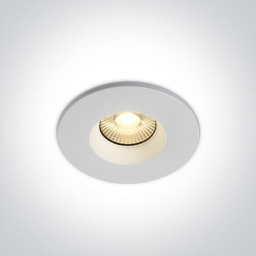 ONE Light White Fire Rated Led 7w Warm White 60deg Ip65 230v Dimmable 5291889063193 10107DF/W