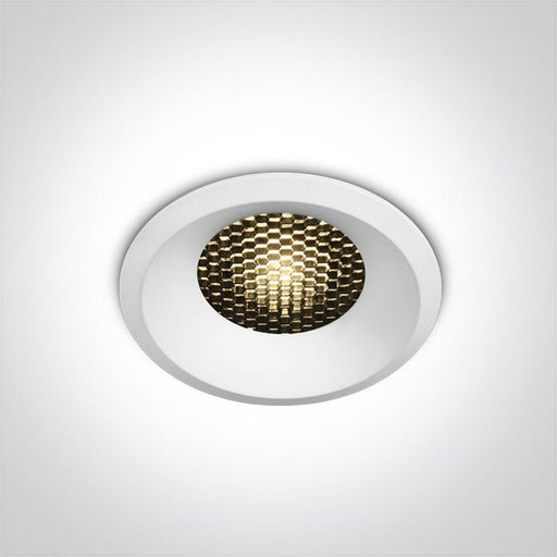 ONE Light White Led 12w Warm White Ip20 36deg 700ma Dark Light Honeycomb 5291889065425 10112DH/W/W