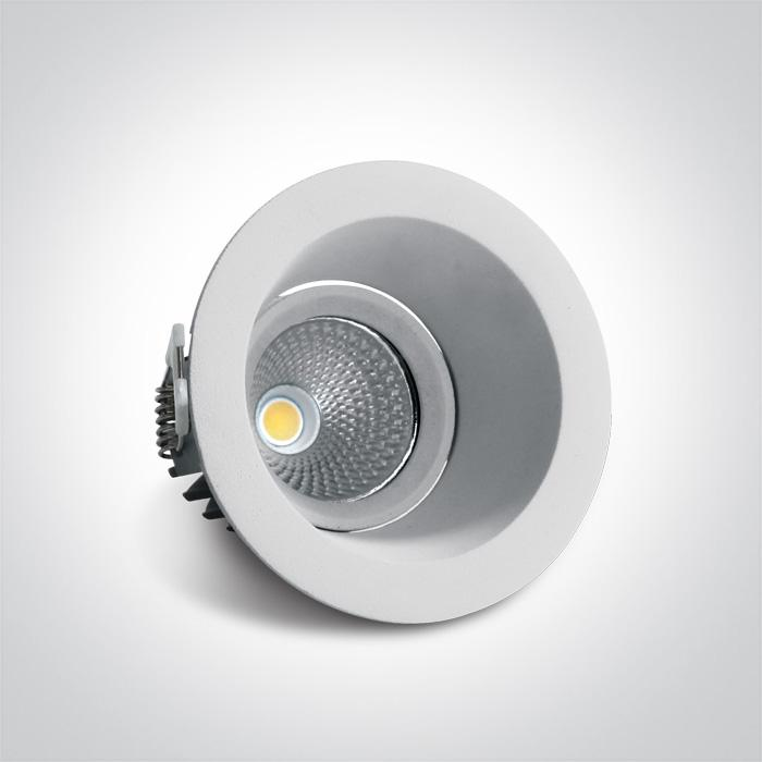 ONE Light White Led 7w Cool White Ip20 60deg 230v Adjustable Dark Light 5291889052104 11107FD/W/C