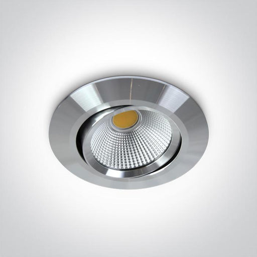 ONE Light Aluminium Cob Led 12w Warm White 700ma 38deg Ip20 Adjustable 5291889038962 11112/AL/W