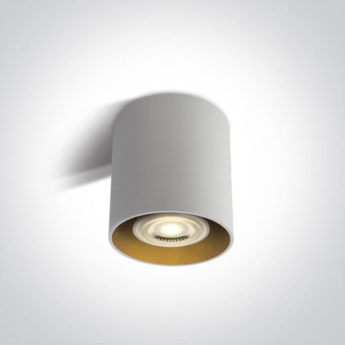 ONE Light White Gu10 10w Round 100-240v 5291889060567 12105T/W