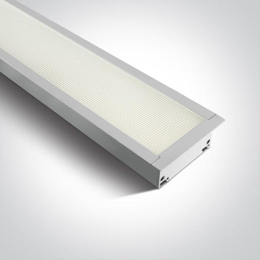 WHITE RECESSED UGR19 LED 40W CW 1210mm LINEAR 230V