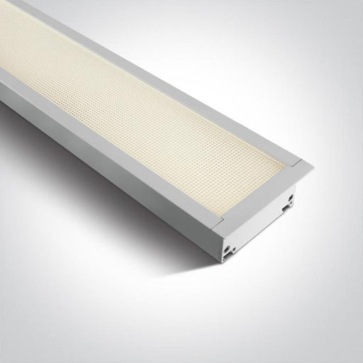 WHITE RECESSED UGR19 LED 40W WW 1210mm LINEAR 230V