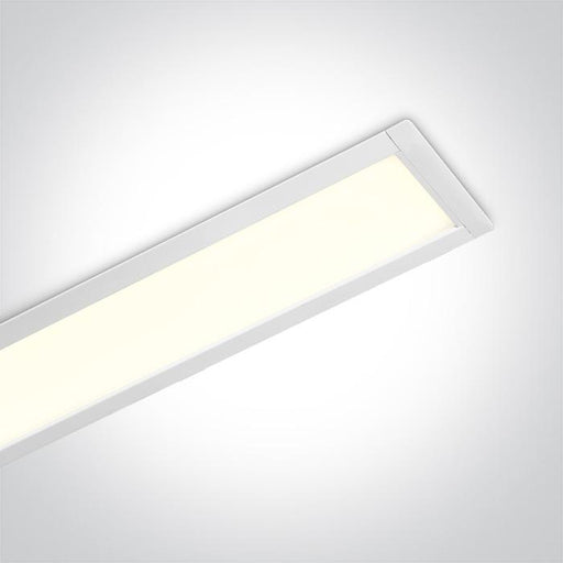 WHITE RECESSED LED 40W CW 1200mm 120d LINEAR 230V