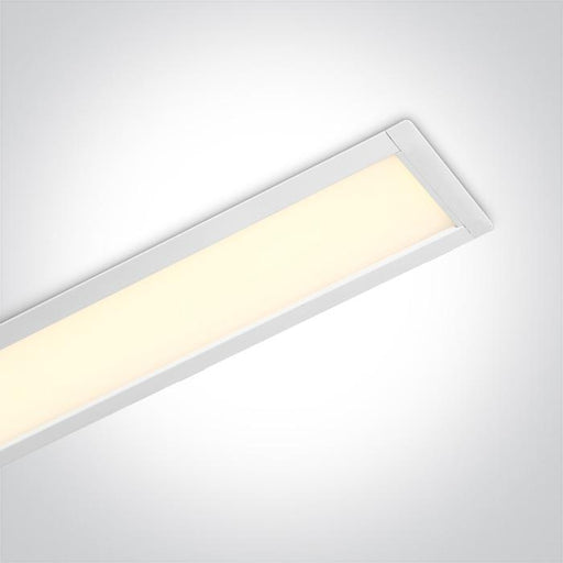 ONE Light White Recessed Led 40w Warm White 1200mm 120d Linear 230v 5291889063872 38152R/W/W