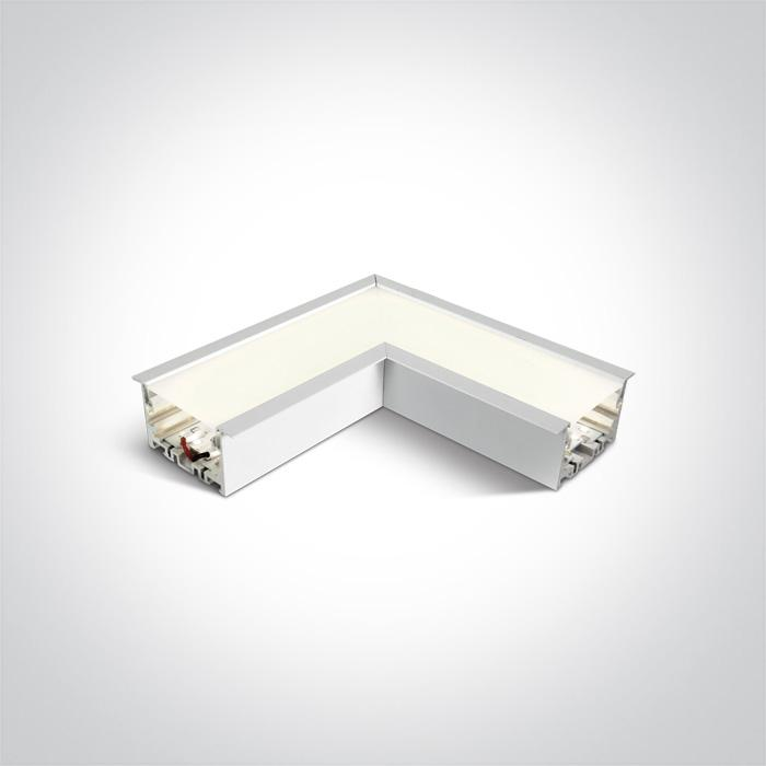 WHITE CORNER FOR 38152R LED 8W CW 120d LINEAR 230V