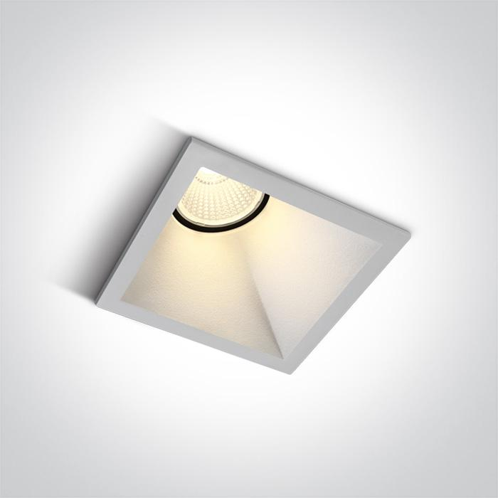 ONE Light White Led 8w Warm White Ip20 50deg Assymmetrical 230v Dark Light 5291889066088 50108A/W/W