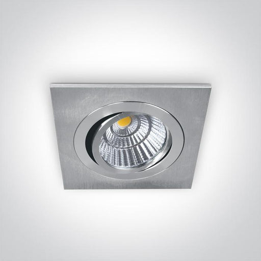 ONE Light Aluminium Cob Led 12w Warm White 700ma 38deg Ip20 Adjustable 5291889042525 51112/AL/W