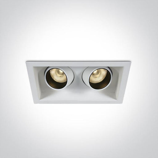 ONE Light White Cob Led 2x6w Warm White 350ma 24deg Ip20 Dimmable Adjustable 5291889064329 51206M/W/W